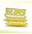 logo for beans vector image