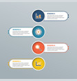 modern infographic elements banner with 4 vector image