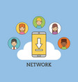 network people scenary vector image vector image