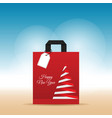 paper bag with happy new year on it vector image vector image