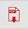 Pdf download icon simple flat pictogram for