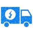 Power Supply Van Grainy Texture Icon vector image