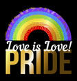 print for t-shirt with pride lgbt bright vector image vector image