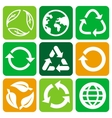 recycle signs and symbols vector image vector image