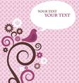 retro valentine card template vector image vector image