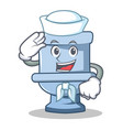 sailor toilet character cartoon style vector image vector image