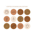 set abstract creative backgrounds coffee vector image