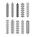 set hand drawn leaf branch with different shape vector image vector image