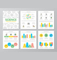 set of colored science and research elements for vector image vector image