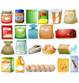 Set of foods vector image vector image