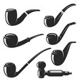 set of the smoking pipes vector image