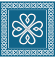 Shamrock - celtic knot traditional irish symbol vector image vector image