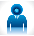 speaker head of businessmen vector image vector image