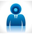 speaker head of businessmen vector image