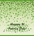 st patricks day frame green leaf vector image