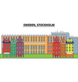 sweden stockholm city skyline architecture vector image vector image