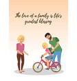 the love of family is lifes greatest blessings vector image vector image