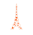 Tower of Paris Tower in the heart vector image vector image