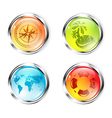 Travel Button Collection vector image