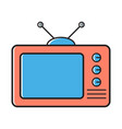tv televisor flat line icon vector image vector image