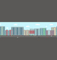 urban district panorama modern town apartment vector image vector image
