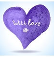 Watercolor heart isolated on background vector image vector image