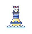 weather buoy rgb color icon vector image