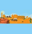 western town landscape vector image
