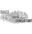 what qualities to look for in an image consultant vector image vector image