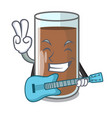 with guitar fresh chocolate splash on pouring vector image vector image
