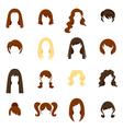 Woman Hair Icons Set vector image vector image