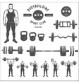Equipment for bodybuilding and exercise vector image