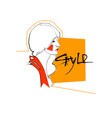 fashion collection style model girl head hairstyle vector image