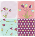 seamless patterns floral fabric vector image