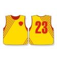 Soccer sports uniforms vector image