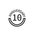 10 anniversary sign element of anniversary sign