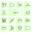 14 empty icons vector image vector image