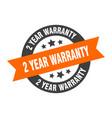 2 year warranty sign year warranty orange-black