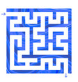abstract colored simple square isolated labyrinth vector image vector image