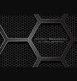 abstract dark grey hexagon overlap on mesh