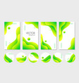 abstract liquid green stories templates nd vector image