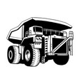 american truck - black and white vector image vector image