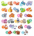 animal english alphabet vector image
