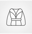 bathrobe icon vector image vector image