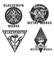 Blacksmith graphic vintage emblems vector image vector image
