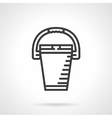 Bucket black line icon vector image