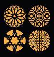 circle round mandala coasters pattern geometric ve vector image