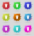coffee icon sign A set of nine original needle vector image