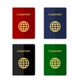Color Passports Icons Set in Flat Style vector image
