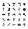 construction tools glyph vector image